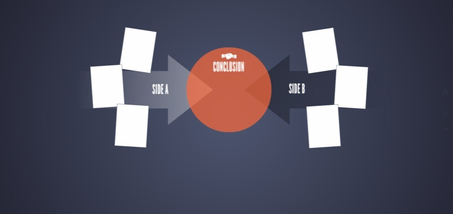 closing-the-deal-dark-blue-red-circle-free-presentation-template