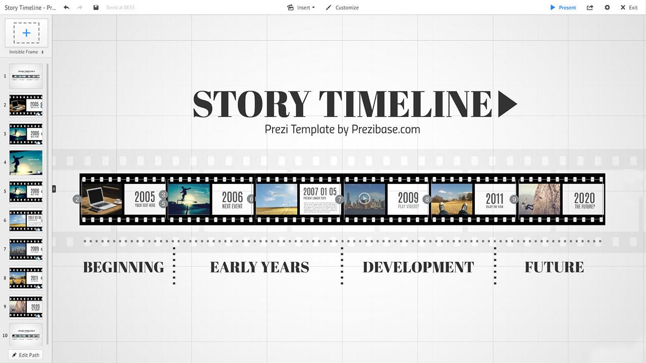 film-story-image-gallery-creative-timeline-prezi-presentation-template