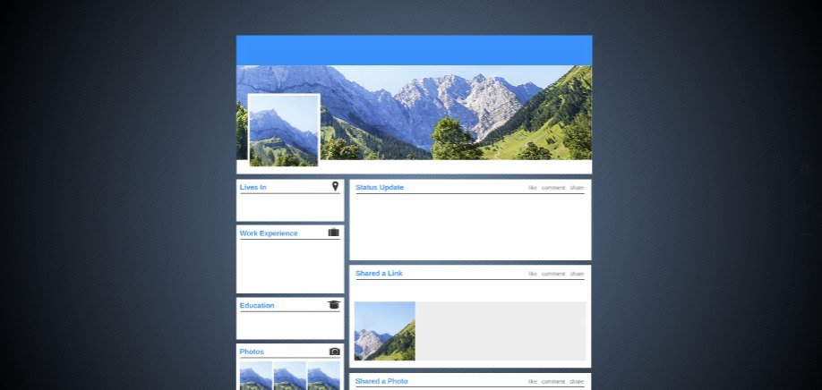 my profile free presentation template | prezibase, Presentation templates