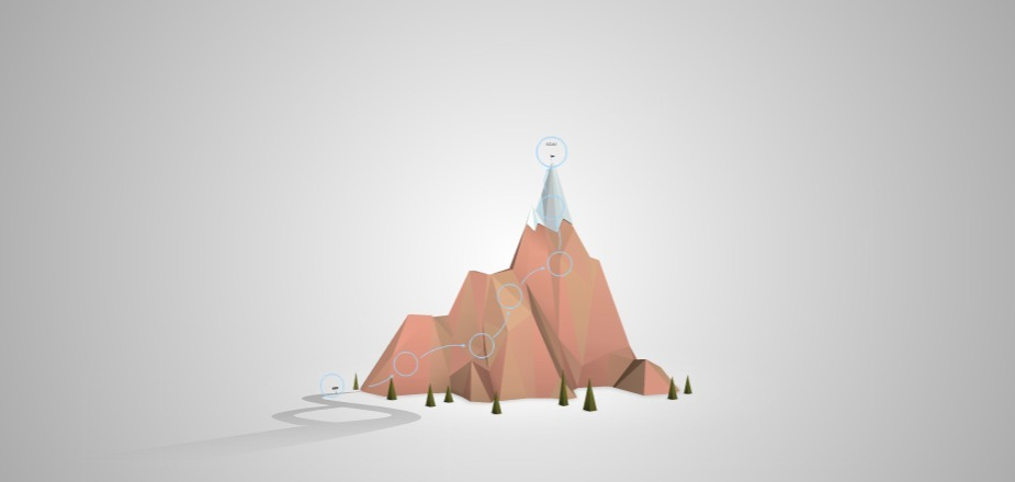 journey to the top mountain free presentation template prezibase