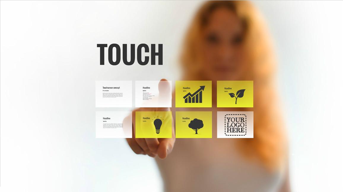 touch prezi template