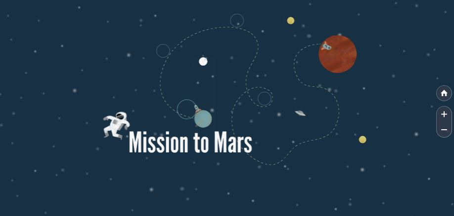 mission to mars free prezi presentation template prezibase