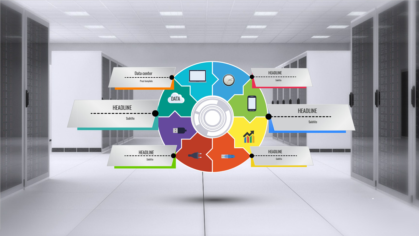Prezi Template with modern Data center