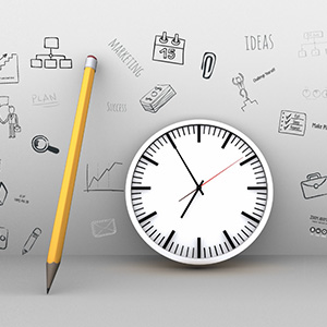 creative-wall-pencil-3d-clock-sketch-ideas-draft-writing-prezi-presentation-template-thumb