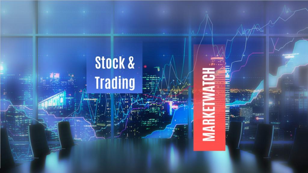 Stock and trading Prezi template