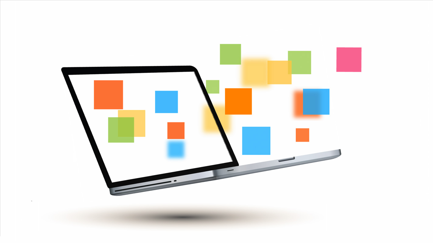 Business laptop Prezi template