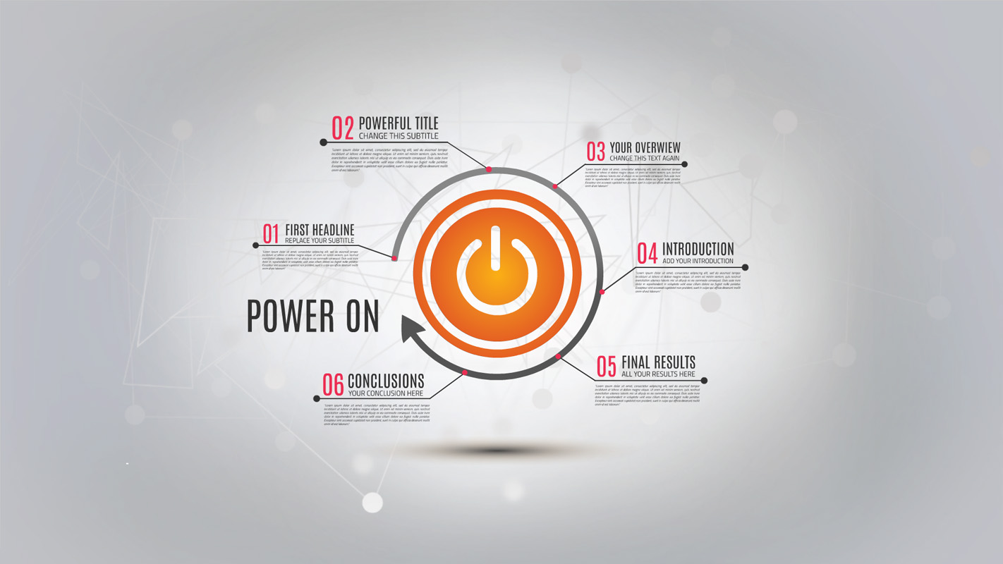 Power on Prezi template