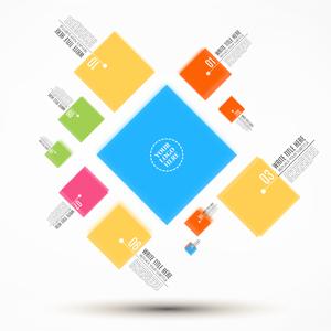Business squares Prezi template
