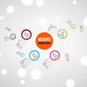 Making connections Prezi template with connecting peoples together