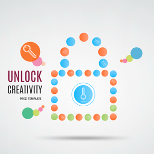 unlock creativity Prezi template