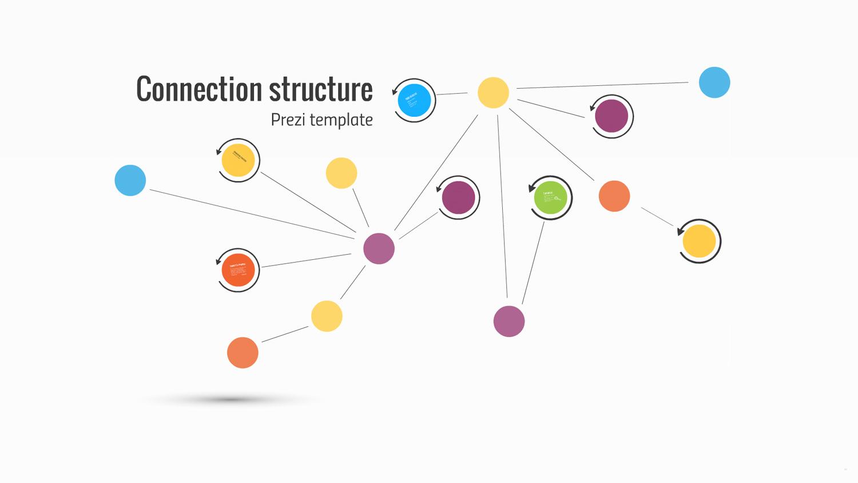 Connection structure Prezi template