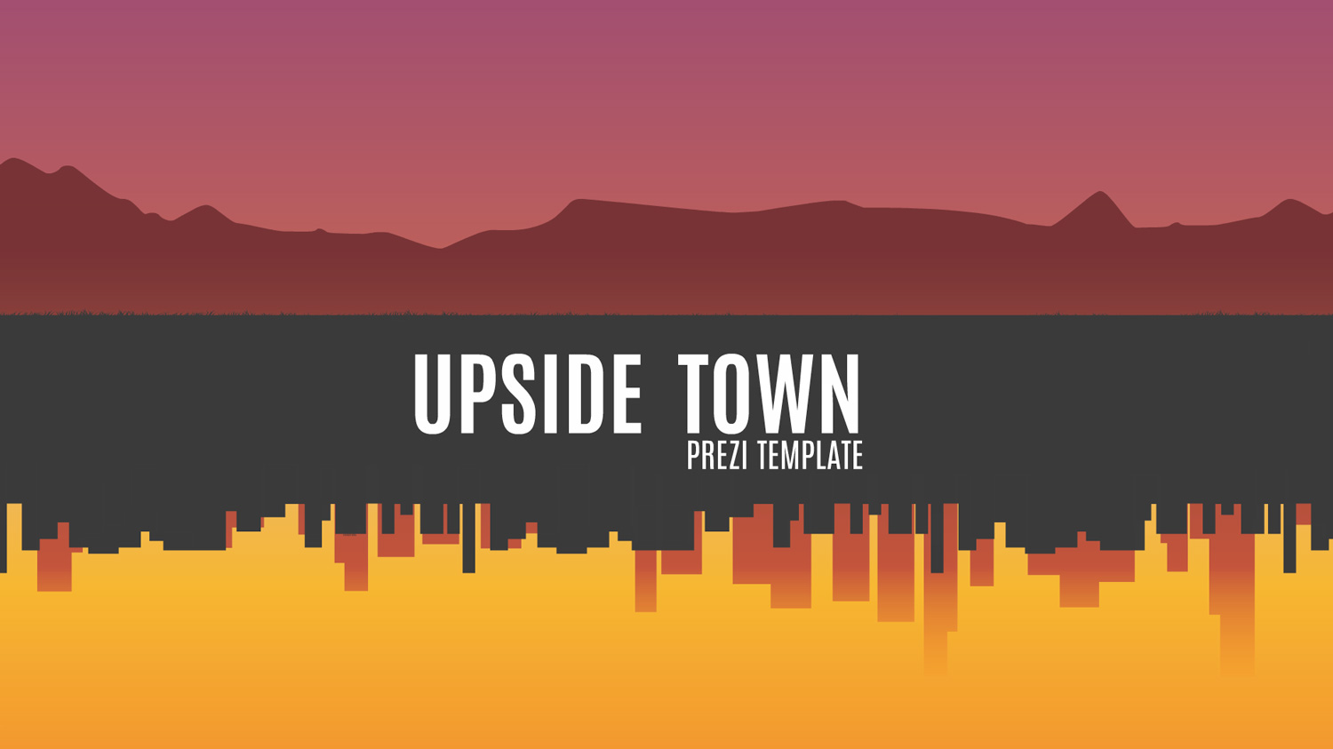 Upside town Prezi template 1500px from Prezibase