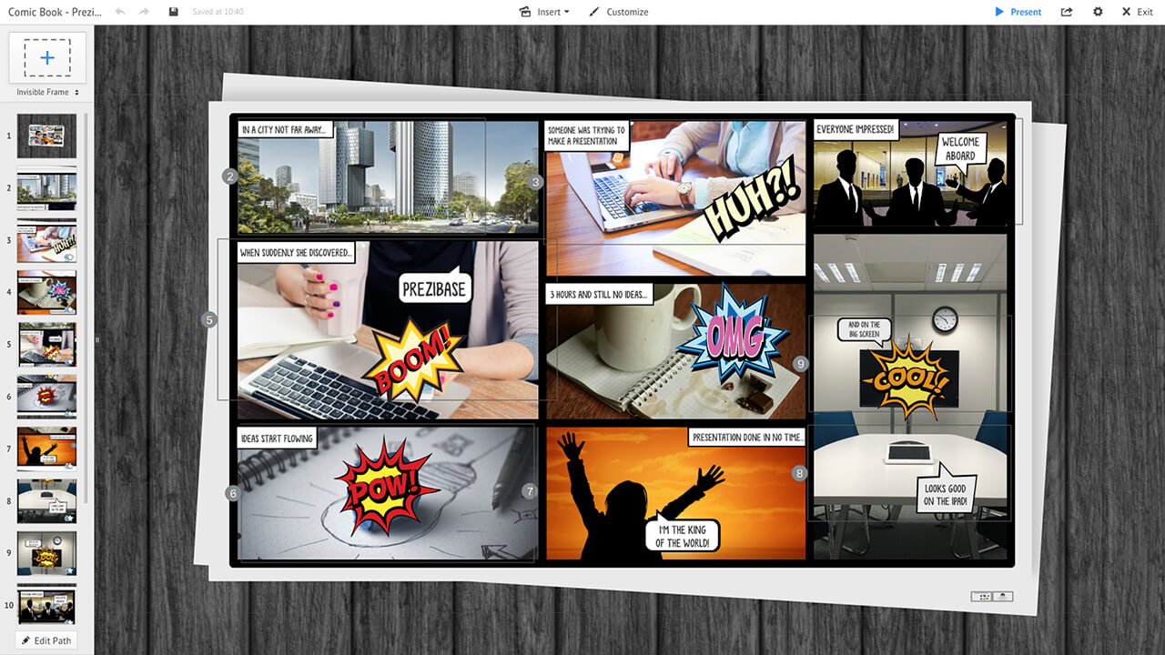 Comics Cartoon Powerpoint Presentation Template Funnypictures Www