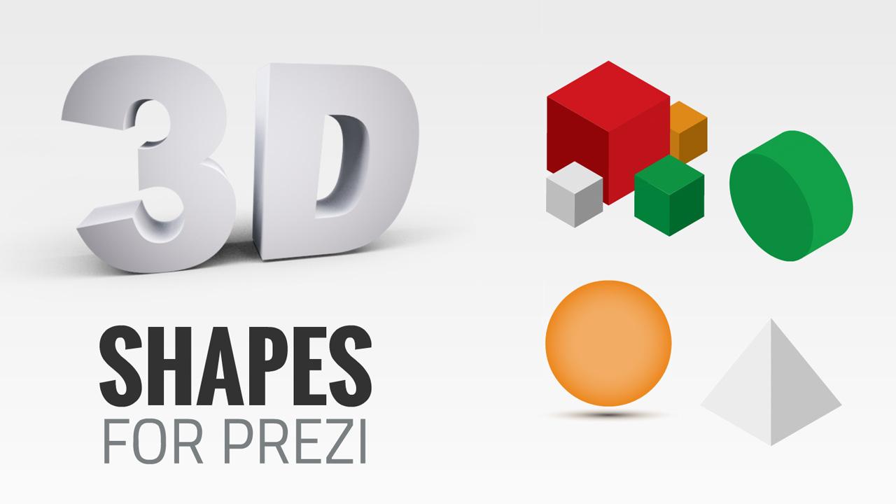 Free prezi templates prezibase 3d elements prezi free prezi template containing various colorful 3d geometric shapes toneelgroepblik Gallery