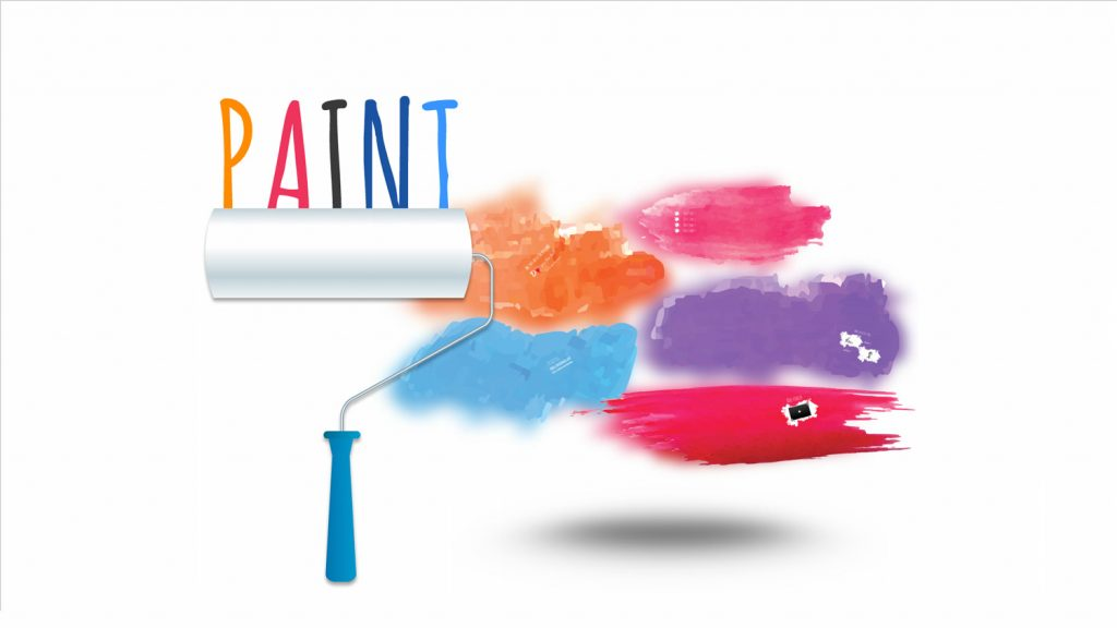 Paint Prezi template with roller and splash