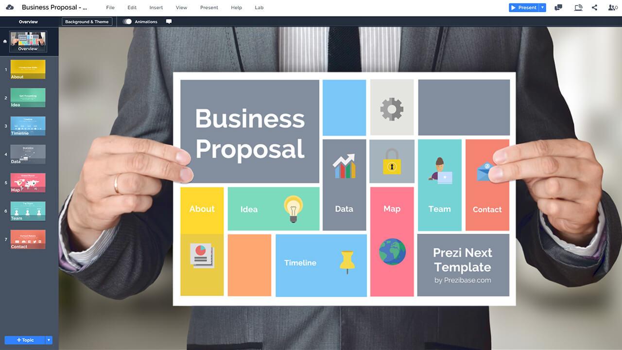 Business Proposal Presentation Prezi Template Prezibase
