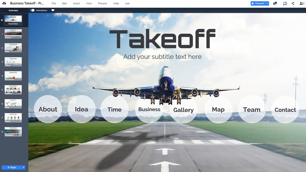 aviation-business-airplane-takeoff-on-runway-airport-travel-prezi-presentation-template