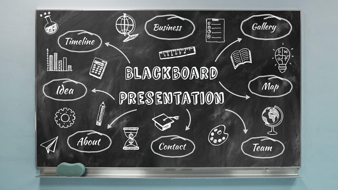 blackboard presentation template prezibase