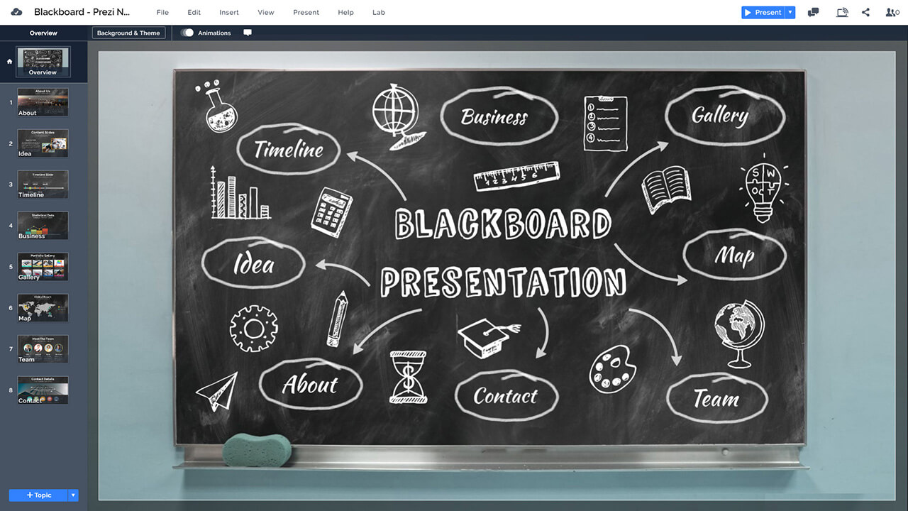 Blackboard Powerpoint Template from prezibase.com