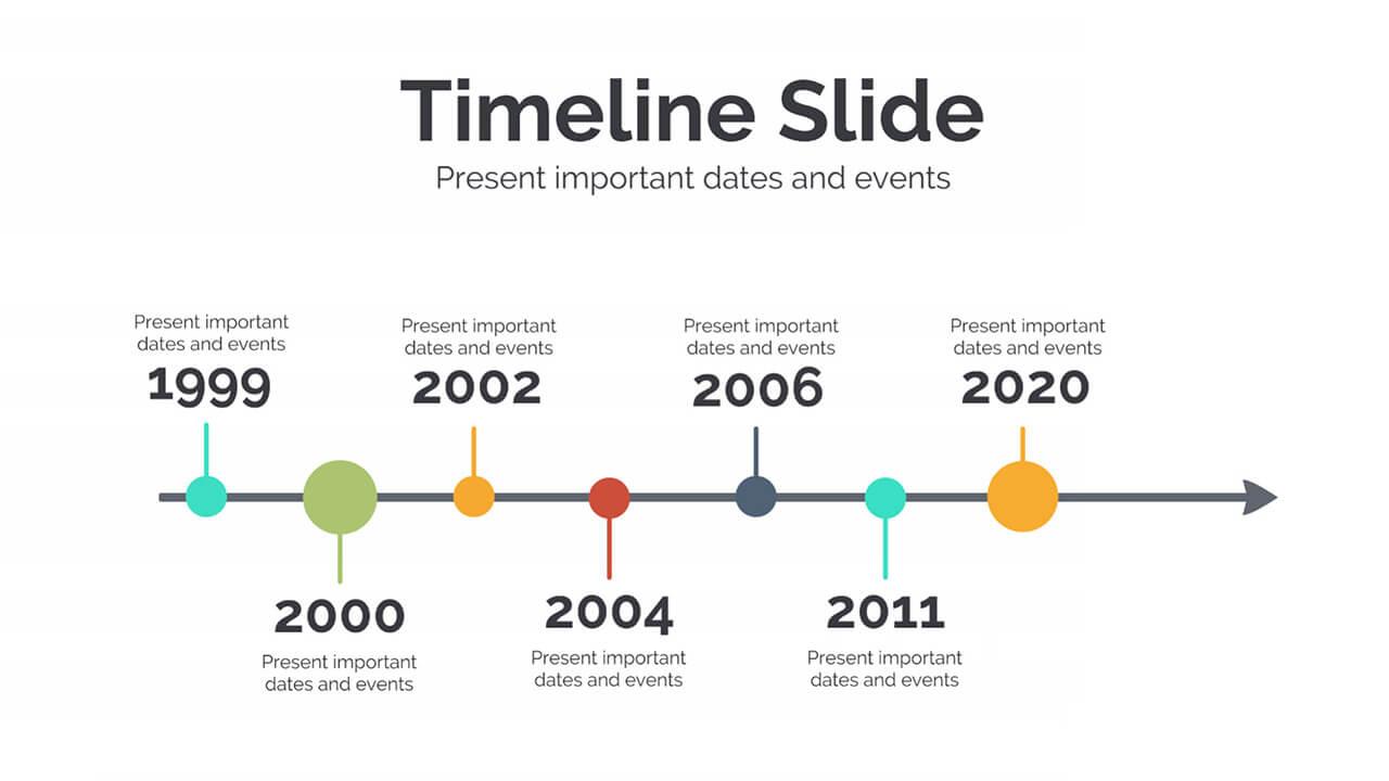 6 Business Plan Timeline Graphics Slide Presentation Template