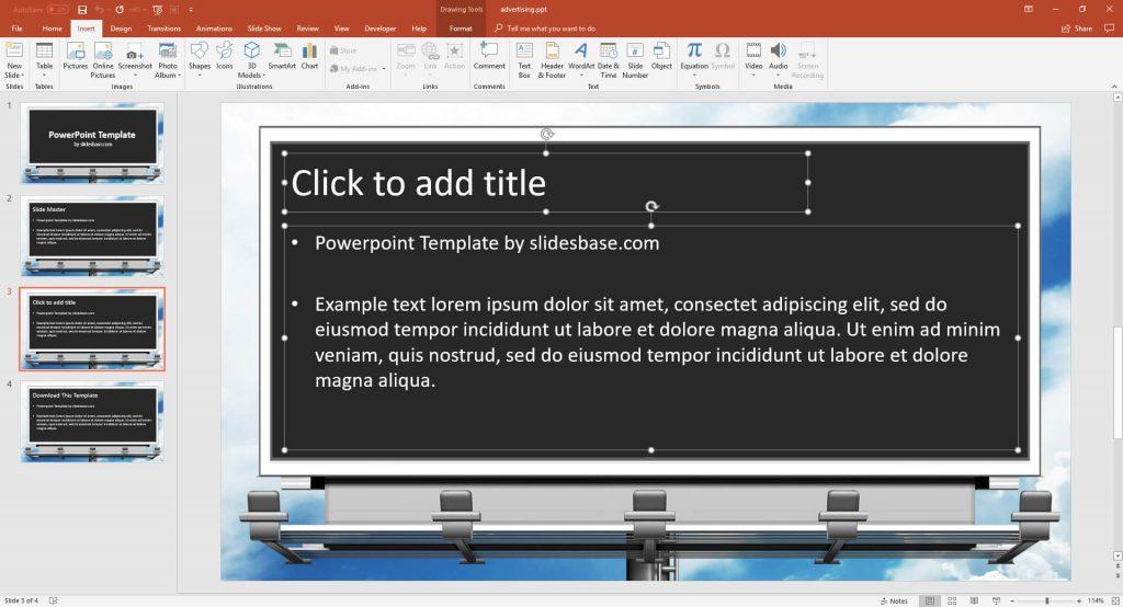 Advertising Presentation Template Prezibase