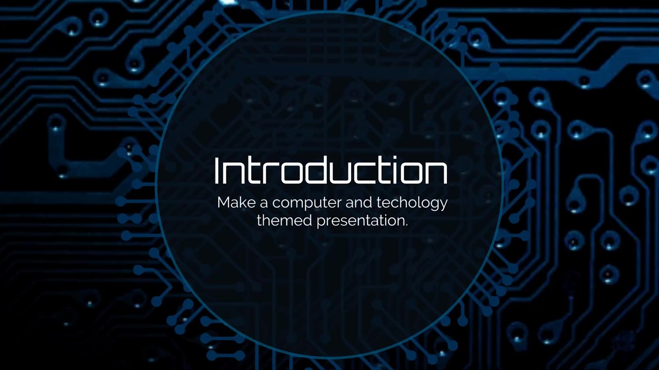 Idea Processor Chip Presentation Template Prezibase