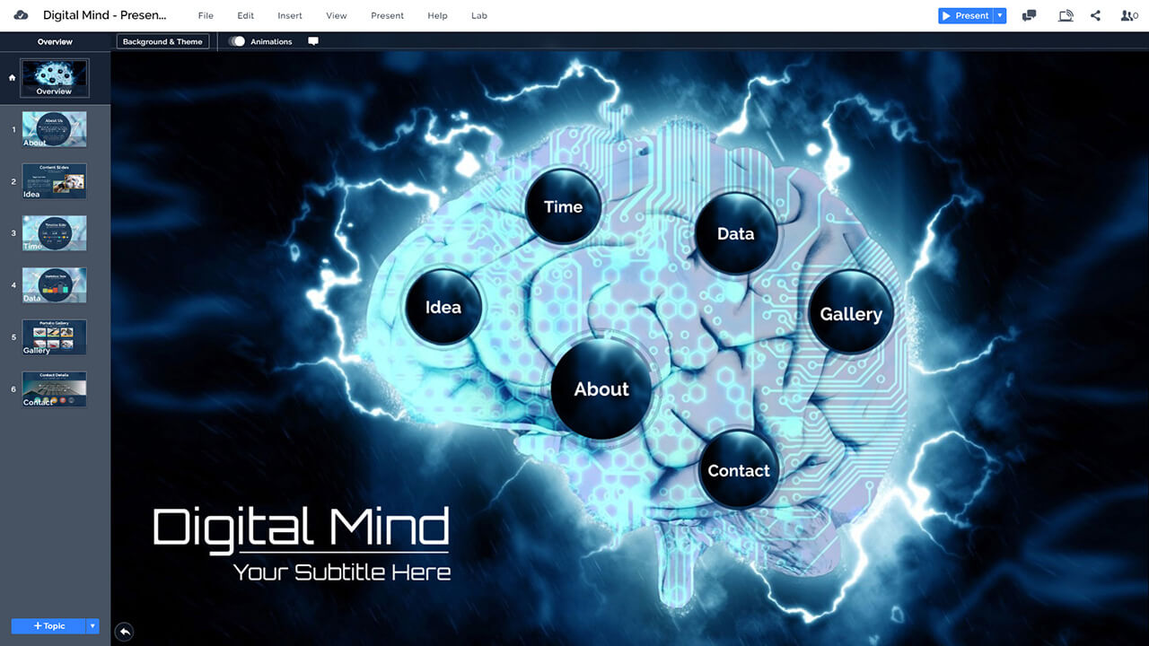 digital-mind-AI-brain-artificial-intelligence-technology-think-presentation-template-for-prezi