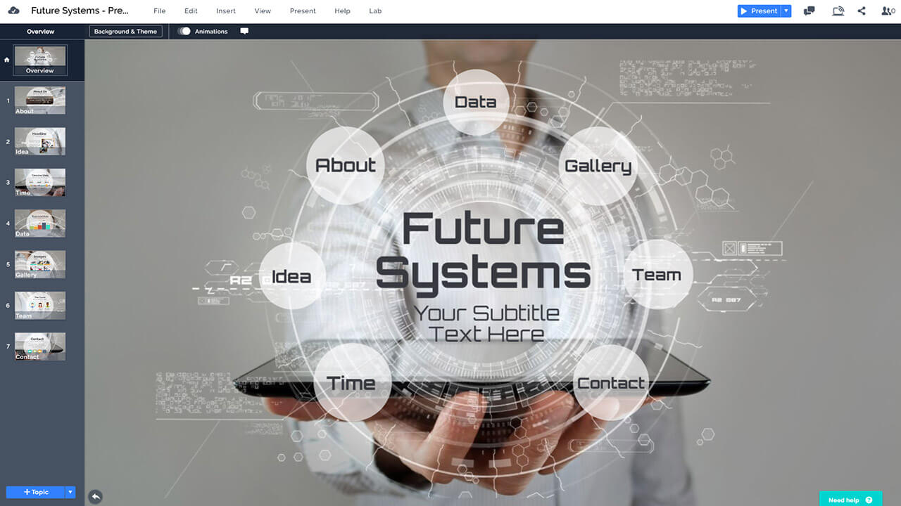 Future Technology Presentation Template | Prezibase