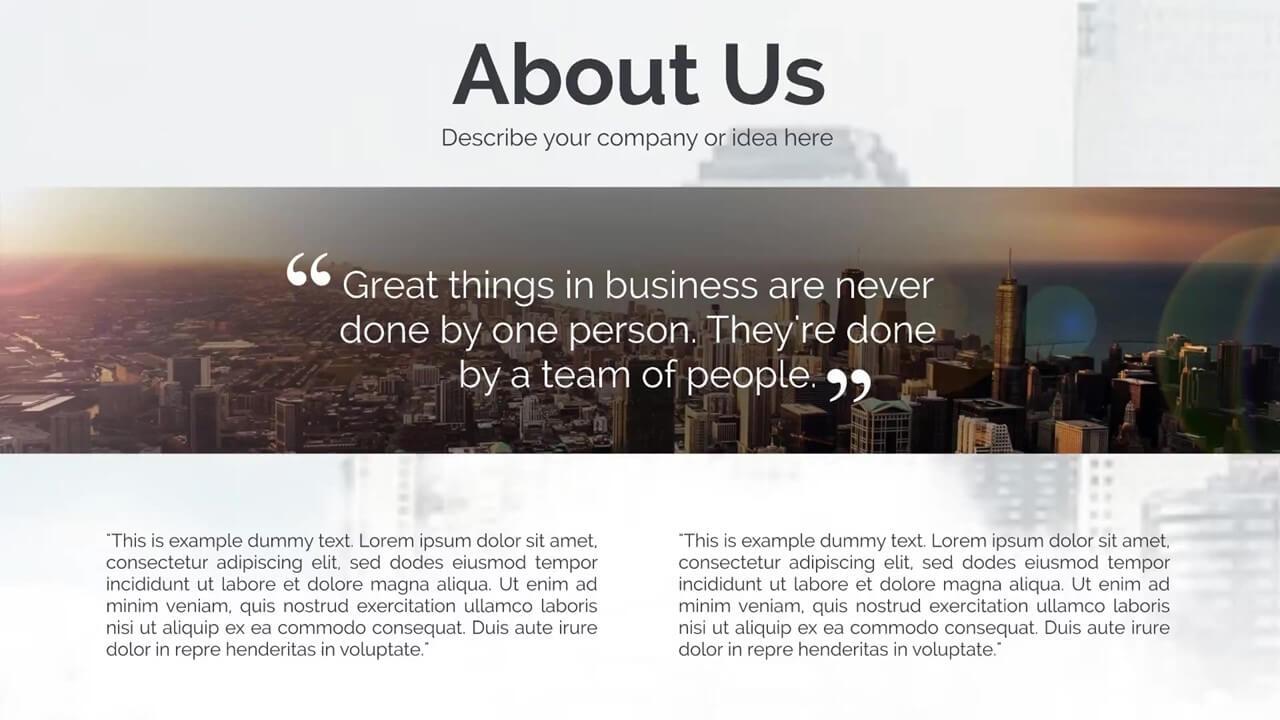 international business presentation template prezibase