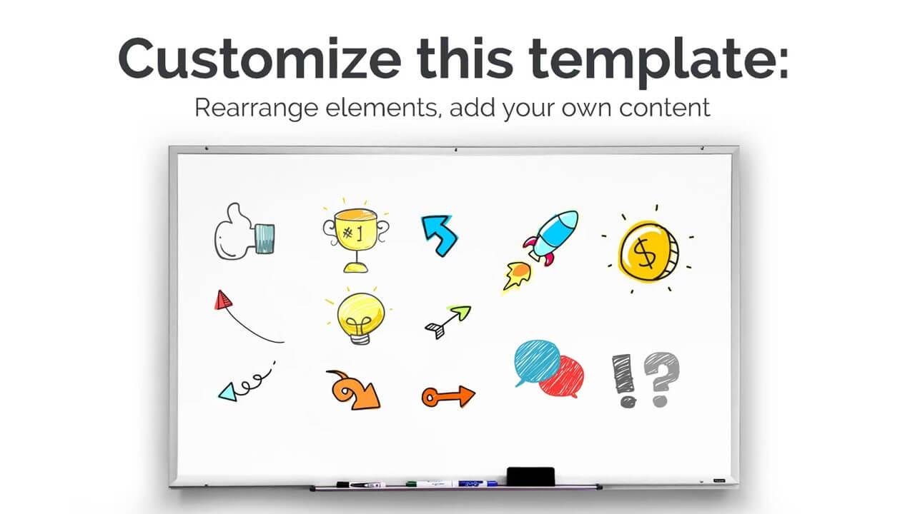creative whiteboard presentation template prezibase
