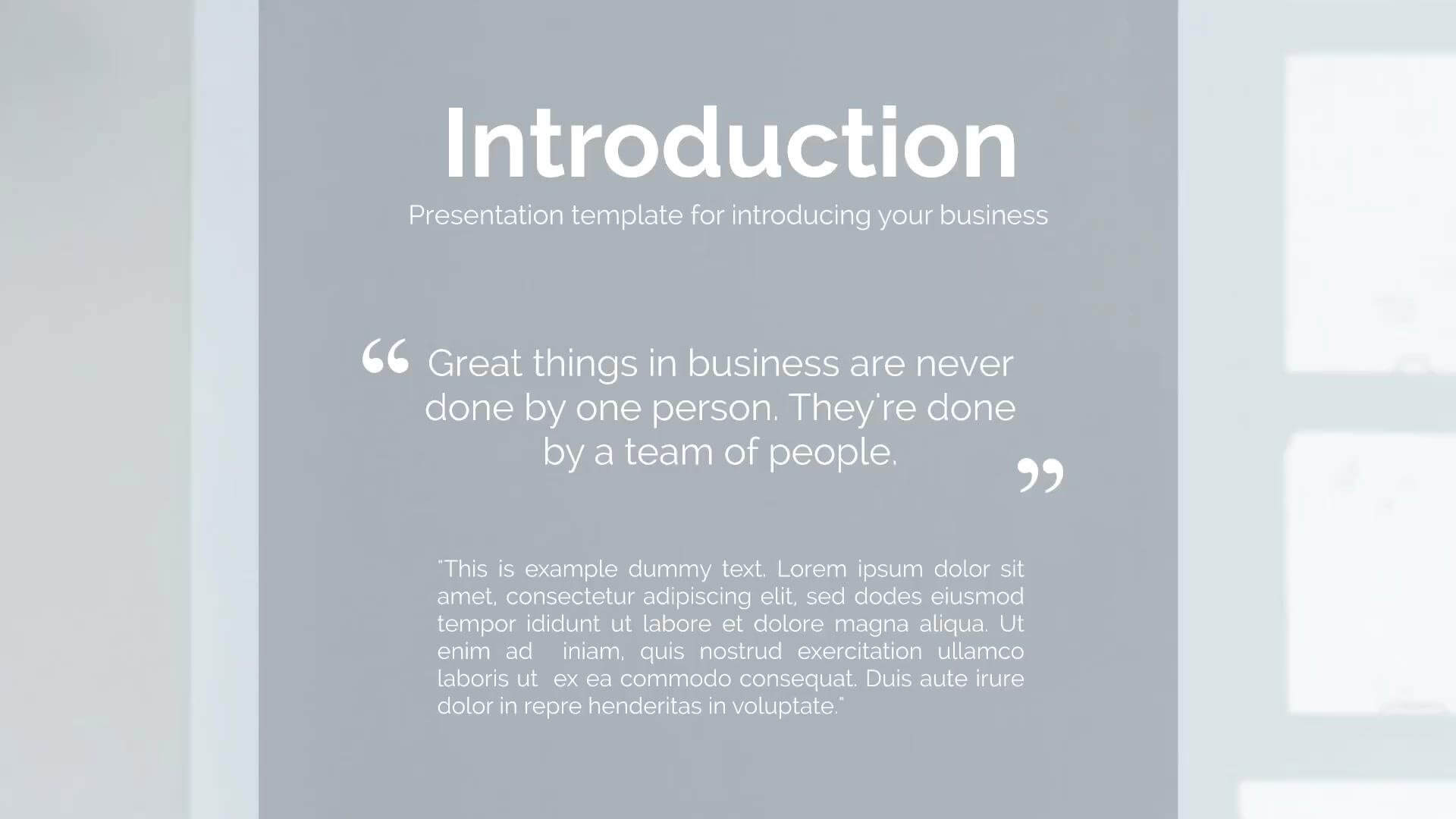 The company introduction ~ presentation templates ~ creative market.