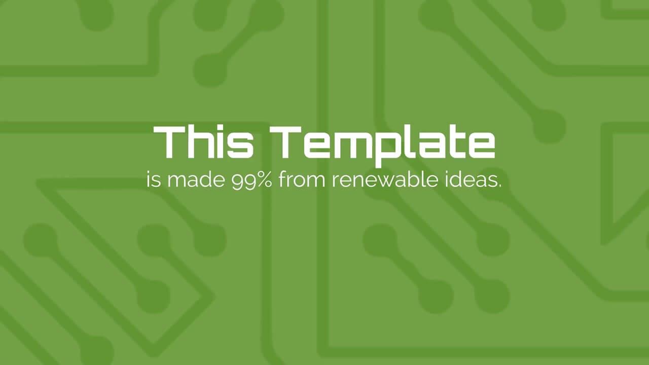 green technology presentation template prezibase