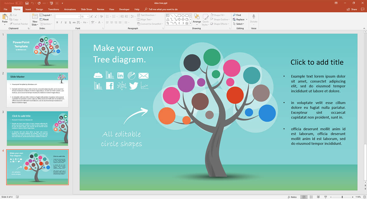 infographic tree presentation prezi template prezibase