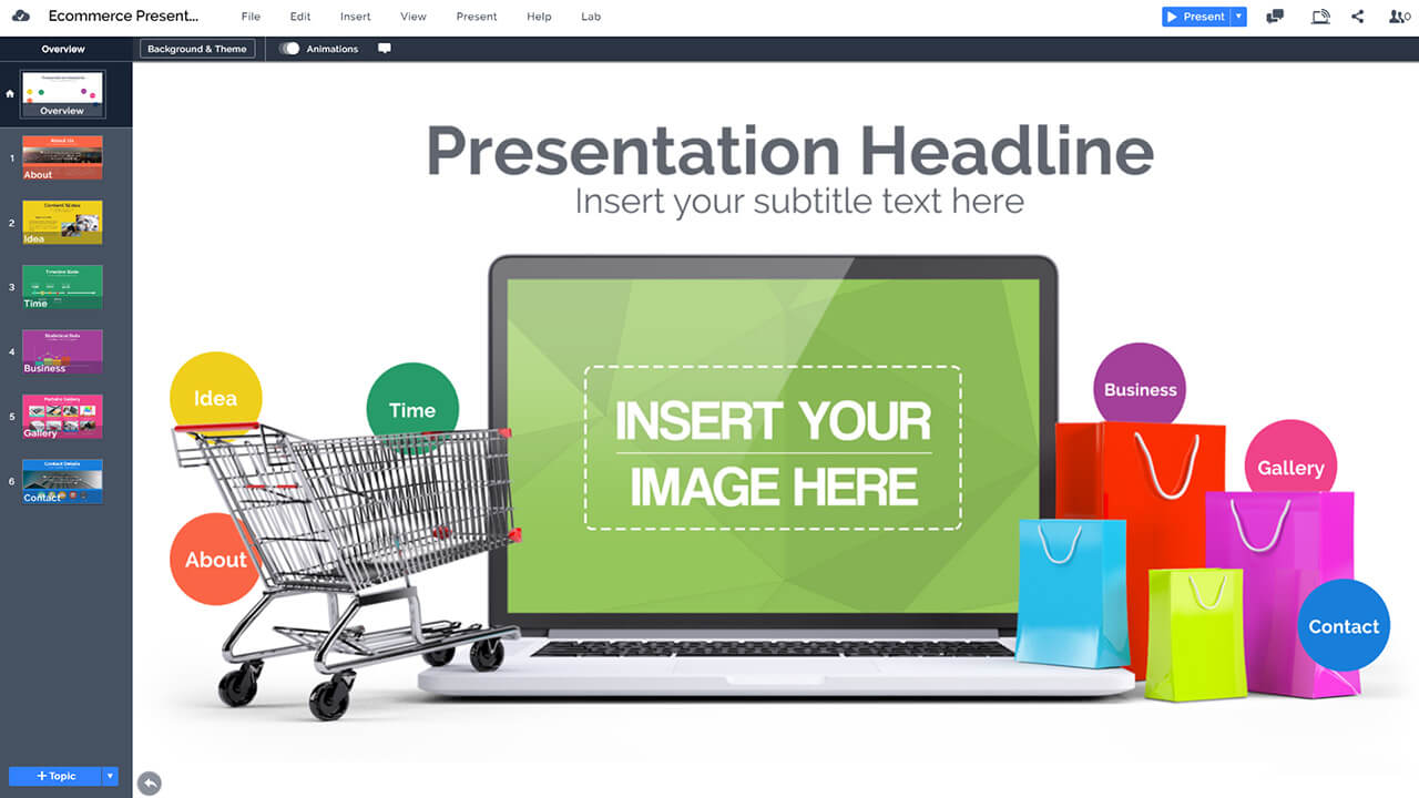ecommerce presentation template prezibase