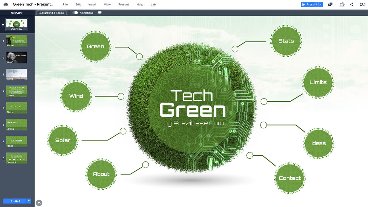 Green Technology Prezi Template | Prezibase