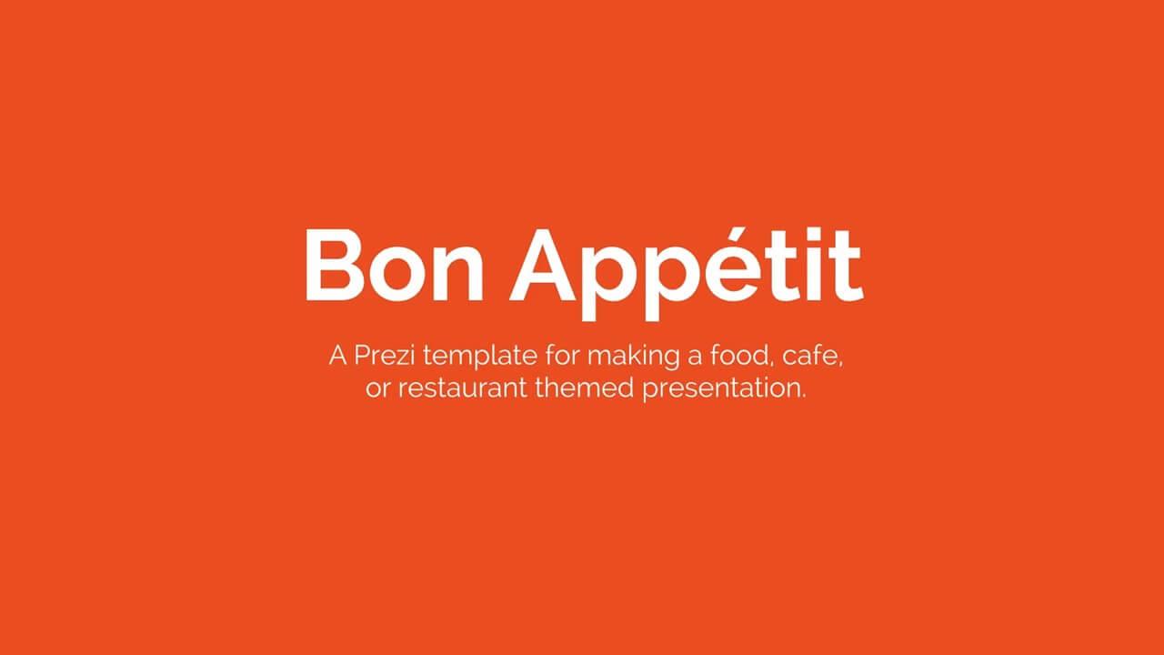 food menu presentation prezi template prezibase
