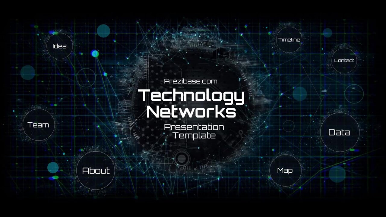 technology network presentation template prezibase