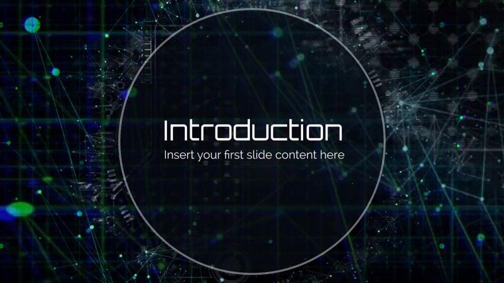 technology network presentation template