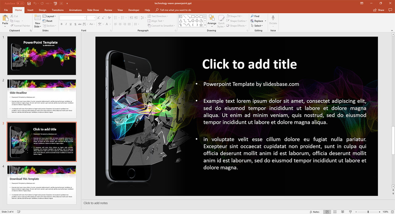 technology-mobile-iphone-creative-colorful-wave-powerpoint-ppt-presentation-template