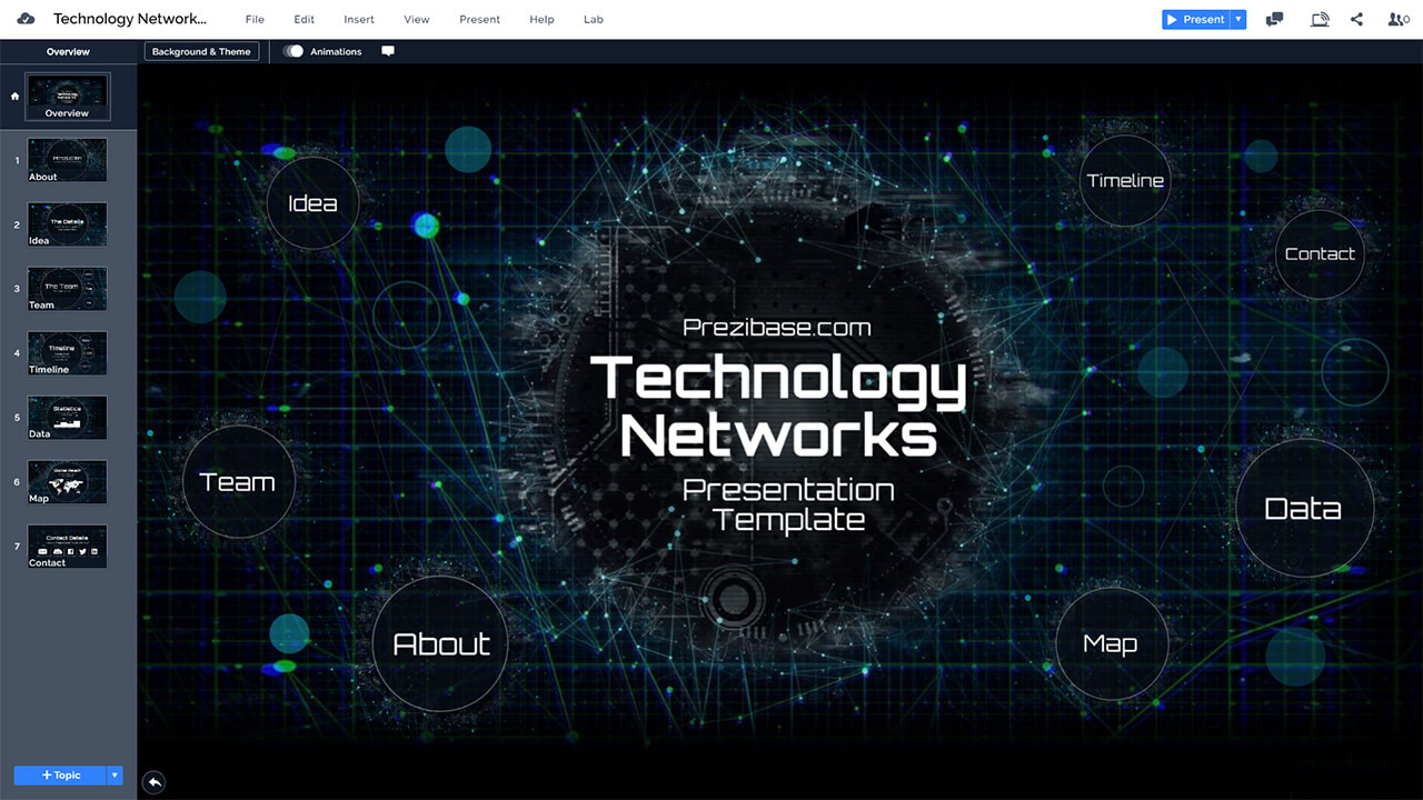 Technology Networks Presentation Prezi Template Prezibase