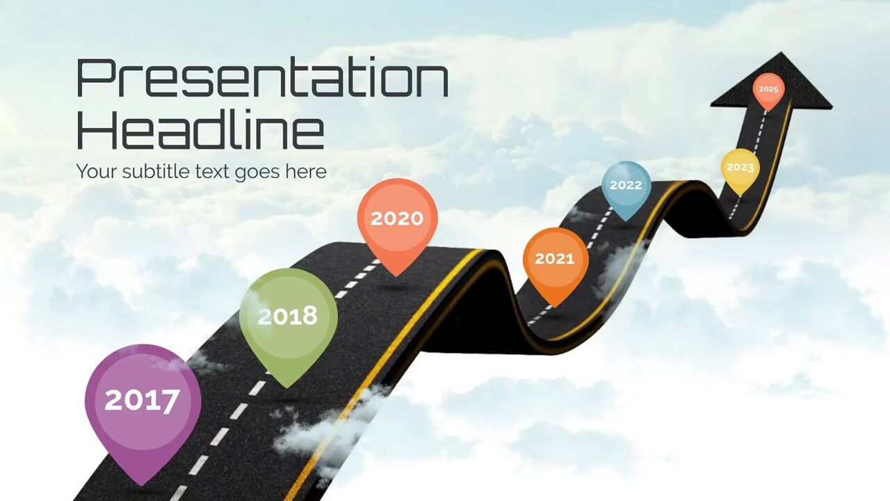 milestones timeline presentation template