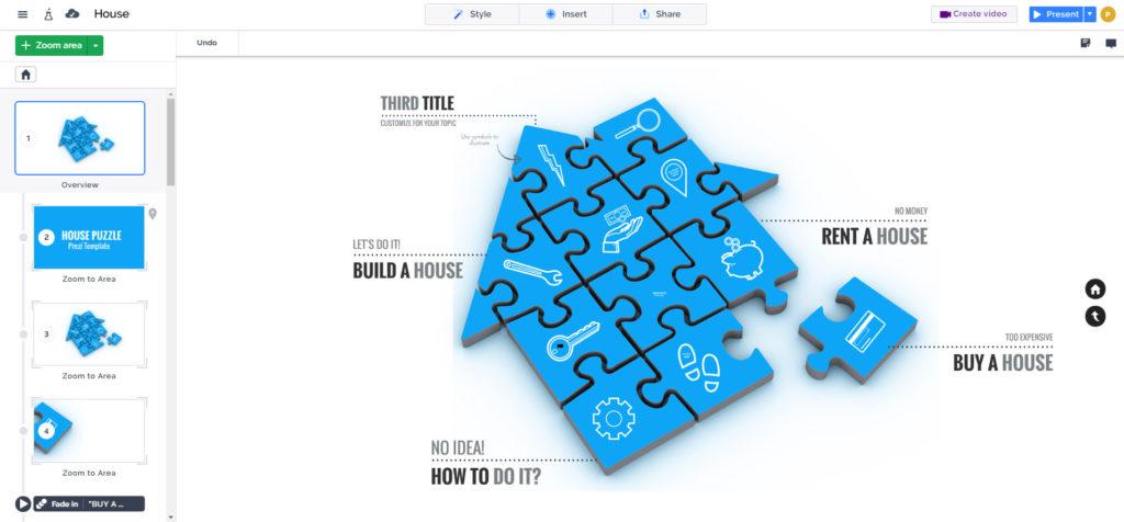 house puzzle presentation
