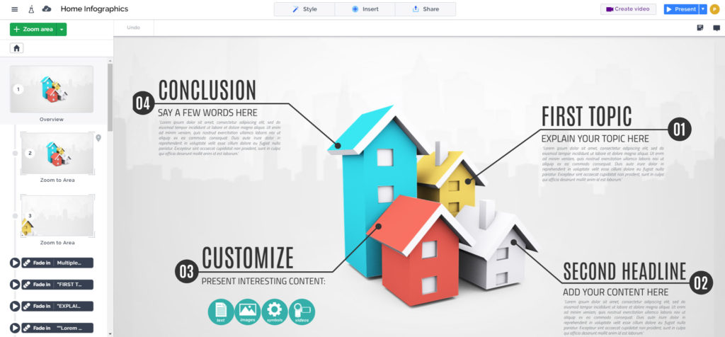 real estate 3d infographic template