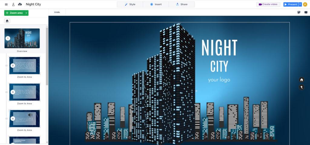Night city real estate